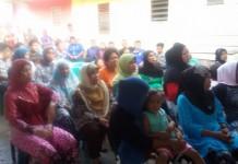 Warga yang Antusias Menghadiri Rodshow ketua DPD PAN Pekanbaru Ir. Nofrizal MM (foto.hms)