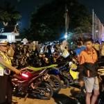 Personil Satlantas Pekanbaru Sedang mengamankan Para Pembalap Liar (foto.satlantas)