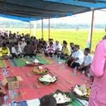 Petani Ikut Selenggarakan Syukuran Hasil Panen di Kepenghulan Pematang Sikek