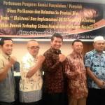 Pemateri Berfoto bersama Sekretaris KP3K Riau Ir.Muharnes dan Wakil KEtua KP3K Riau Ir.Kadir. (Foto:Dewi)