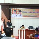 Wakil Bupati Meranti membuka Cofe Morning dan rakor PPID. (foto:hms)