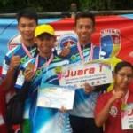 foto:Tim panahan Siak foto bersama usai menerima medali