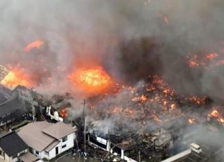foto : Kebakaran hebat di jepang lalap 140 bangunan