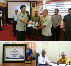 Foto:BPBD Meranti Raih Penghargaan Gubernur Riau