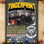 foto:Grup hardcore asal Medan Fingerprint bersiap tampil di Trustday Fest 2017.