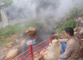 """Foto:Syurga tersembunyi dibalik """"Hot Water Boom"""" Sapan Maluluang Solok Selatan (Foto; Donny )"""