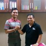 Foto: Kabid Penta DISNAKER Pekanbaru (Bapak Abdul Rahim) Saat ditemui di Ruangan (Foto:Donny&Risa)