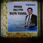 Spanduk Yusril Sabri Calon KEtua DPC PEradi
