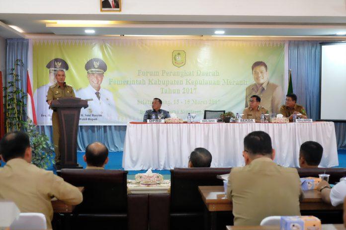 Wabup Buka Rakor Forum Perangkat Daerah