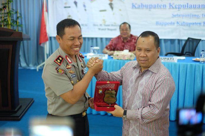 Bupati Meranti Bersama Kapolda Riau