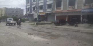 Jl. Garuda Ujung tampak Berlobang dan Rusak ( Foto:Fuad)
