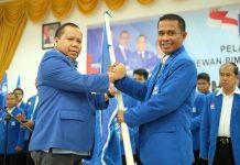 Ketua DPW PAN Riau Irwan Nasir, Salam Komando dengan Ketua Inhu
