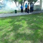 Pengurus KNPI Sedang Bersih-bersih Masjid