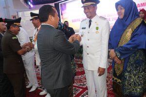 Wakil Walikota Pekanbaru H Ayat Cahyadi Salam Kompak Bersama Bupati Irwan M.Si (sar)