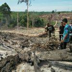 TNI Pantau Lokasi Titik Api Didalam Hutan