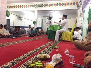 Calon GUBERNUR Riau H Irwan Nasir. Menyampaikan Sambutan kepada Jamaah