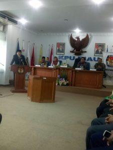 Prosesi Pelantikan Erdison Menjadi Sekretaris KPU Kabupaten Meranti