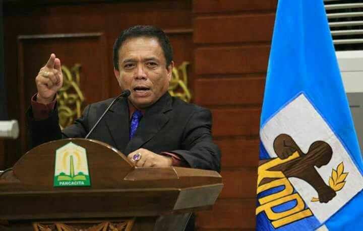 Gubernur Aceh Irwandi Yusuf Saat Membuka Acara Musda KNPI Aceh