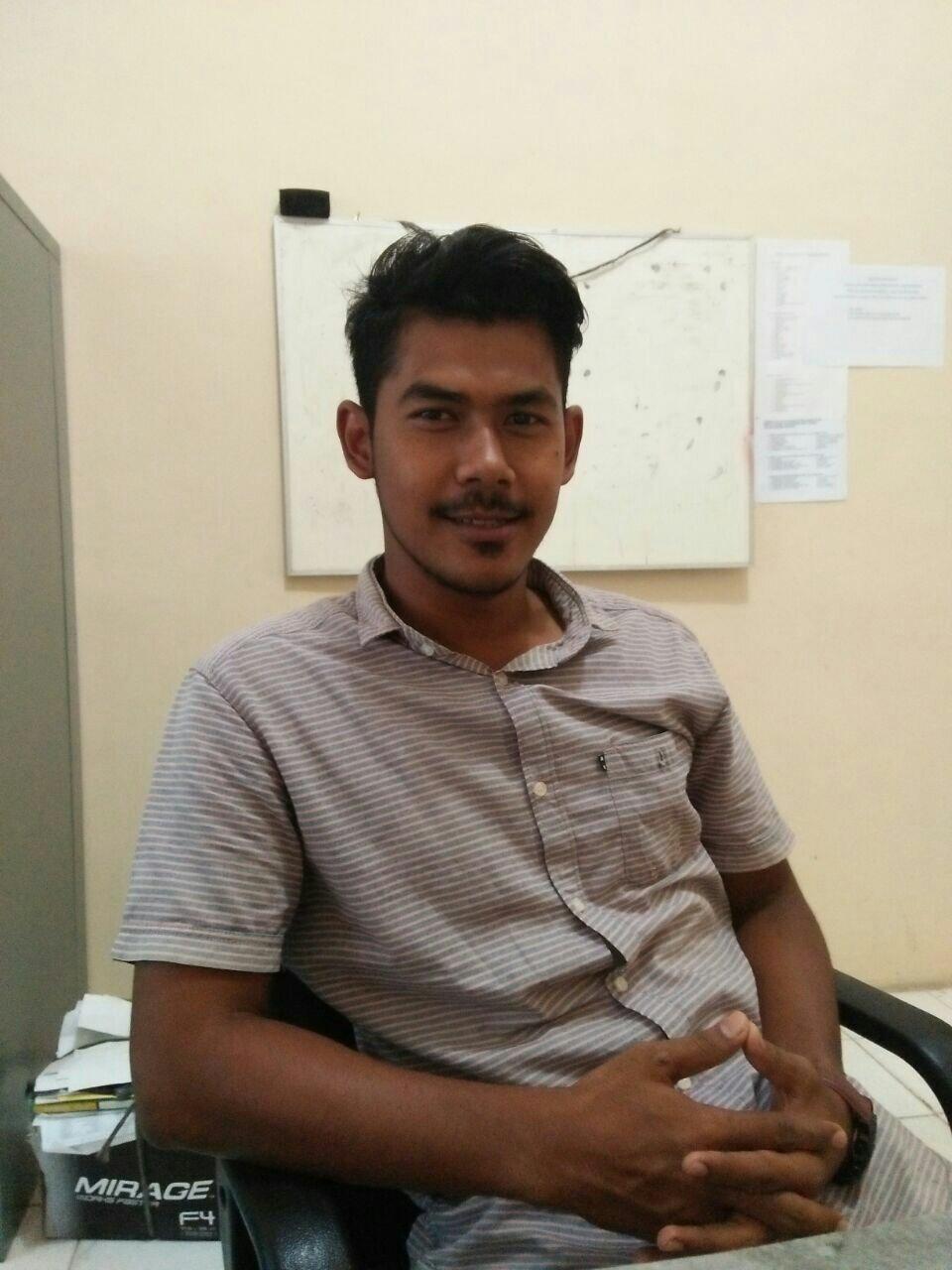 Dedek Ardiansyah tokoh muda dari Gampong Buket Pulo, Kecamatan Langsa Timur Kota Langsa, Rabu,(30/08/17) Foto :Syeh.