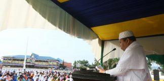 Irwan Nasir dalam memberi sambutan