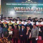 Wisudawan/ti saat Berfoto Bersama Tokoh Din Syamsuddin, Gubri Andi Rachman, Rektor, Ketua Muhammadiyah Riau dan yang lain nya