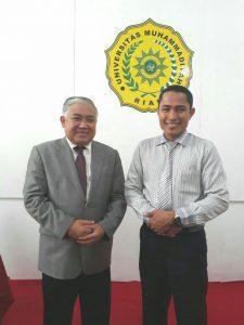 Ketua IKA UMRI Alex Akbar SE Foto Bersama Prof. Din Syamsuddin