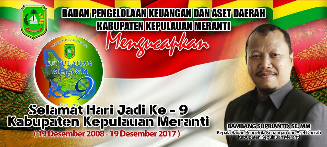 Iklan HUT Kabupaten Kepulauan Meranti