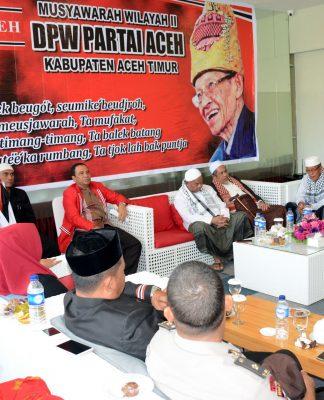 BUPATI Aceh Timur, H. Hasballah HM.Thaib, ketika membuka Muswil-II DPW-PA di The Royal Hotel Idi, Sabtu 17 Maret 2018. Foto: Humas Pemkab Aceh Timur.