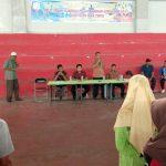 APEL TC: Atlet Popda Aceh Timur Tahun 2018 mengikuti Apel TC di Gedung ISC Aceh Timur di Idi, Kamis 15 Maret 2018, sore. Foto: Istimewa