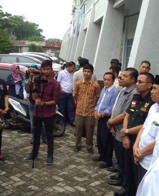 Syariful Amri saat Membacakan Dukungan kepada Syamsuar edy