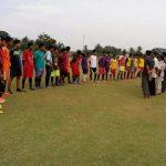 Puluhan Pemuda Peureulak Timur Sedang Melakukan Proses Sileksi pemain untuk piala Bupati Aceh TImur