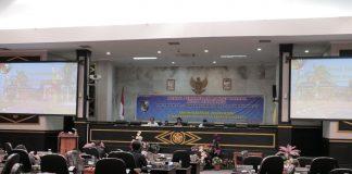Suasana Rapat Paripurna penyampaian pokok-pokok pikiran DPRD Kota Pekanbaru