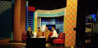 H. Said Hasyim saat Menyampaikan Live Di TVRI (foto:wan)