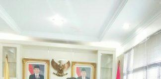 Plt. Walikota Ayat Cahyadi Salam Komando Bersama Ketua ICMI Muda Pekanbaru