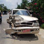 Kondisi Mobil Dinas Cabang Rutan Idi Pasca Kecelakaan.(21/01/18). istimewa