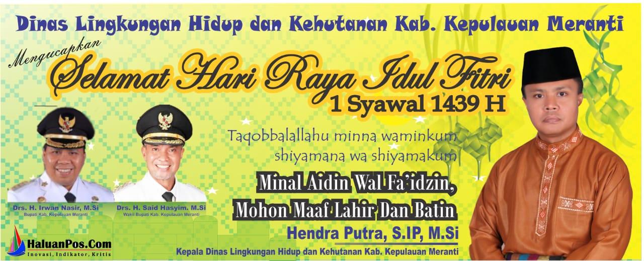 Ucapan Idul Fitri 1439 H, Dinas Lingkungan Hidup dan Kehutanan
