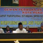 Plt Gubernur Riau Wan Thamrin Asyim saat Menyampaikan Sambutan