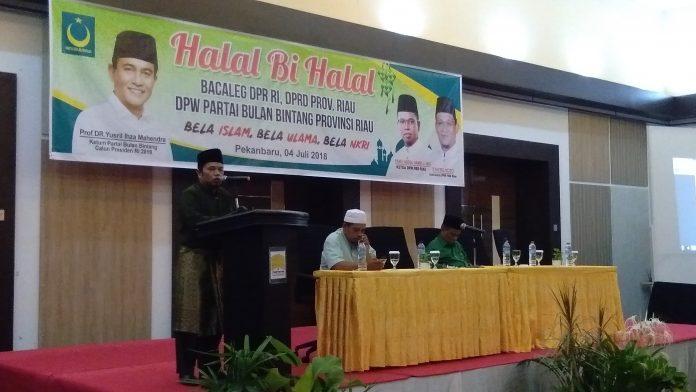 Ketua DPW PBB Riau saat menyampaikan Sambutannya.