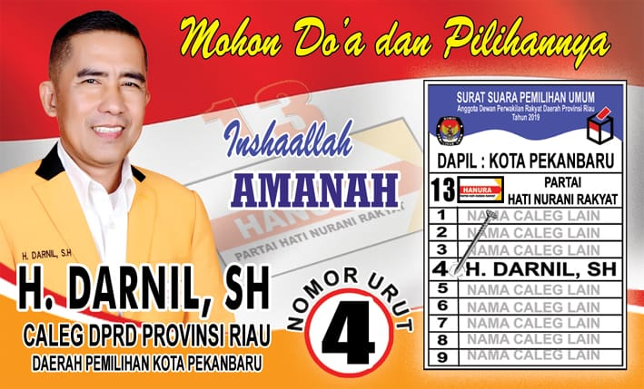 H Darnil SH Caleg DPRD Provinsi Riau