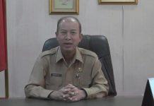 Bupati Aceh Tamiang H.Mursli .SH. M, Kn saat Menyuarakan Penolakan People Power di pendopo Buapti Aceh Tamiang.Kamis.(16/05/19).