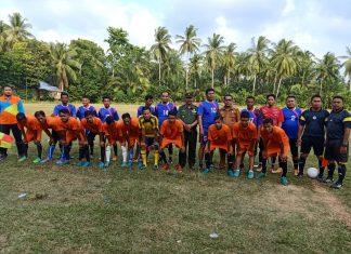 Foto Bersama Pemain Club Awak Awai dan Club Keumuneng Lhok serta Panitia HUT RI ke 74 Idi Tunong,Senin 29/07/19. Sumber Istimewa