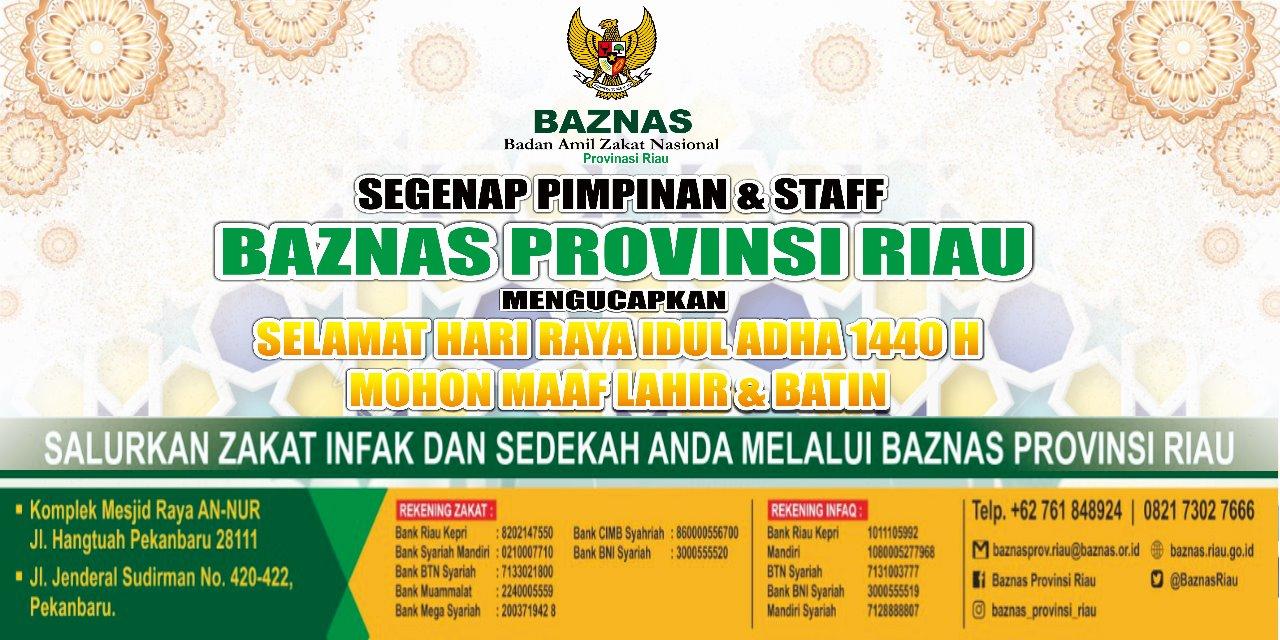 Ucapan Idul Adha Baznas Riau
