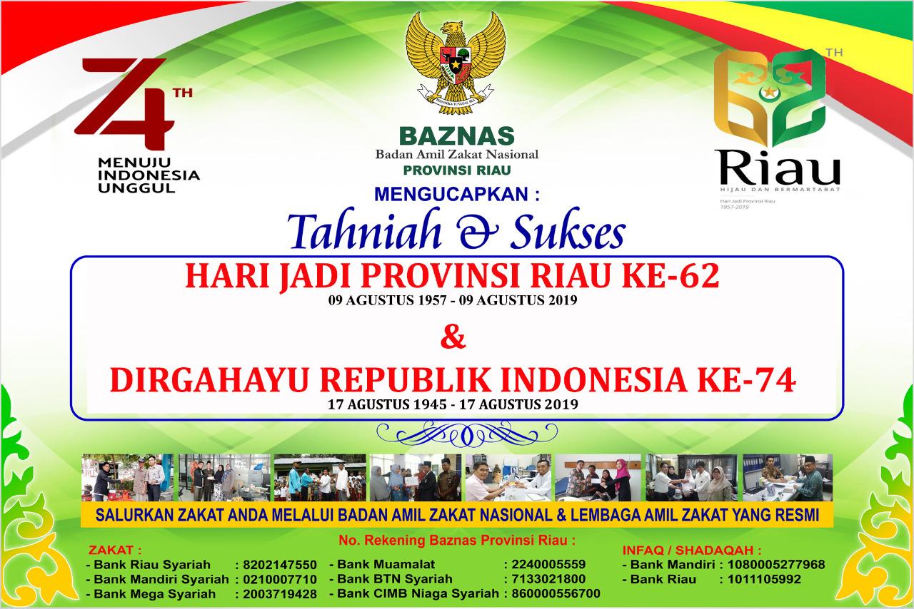 Iklan Ucapan BAZNAS Prov Riau