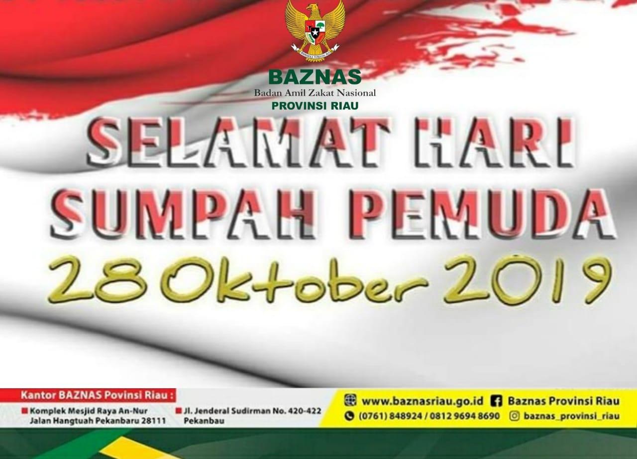 Ucapan BAZNAS Prov Riau  Sumpah Pemuda 2019