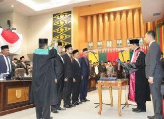 Pengambilan Sumpah Pimpinan DPRD Kota Pekanbaru