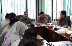Zulkarnain anggota Komisi III DPRD kota Pekanbaru memberikan masukan dan arahan terhadap program BPBD Pekanbaru Kedepannya