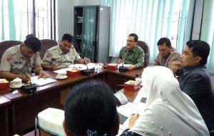 Kepala BPBD Pekanbaru, Zarman Candra menyelaskan program kerja BPBD kota Pekanbaru