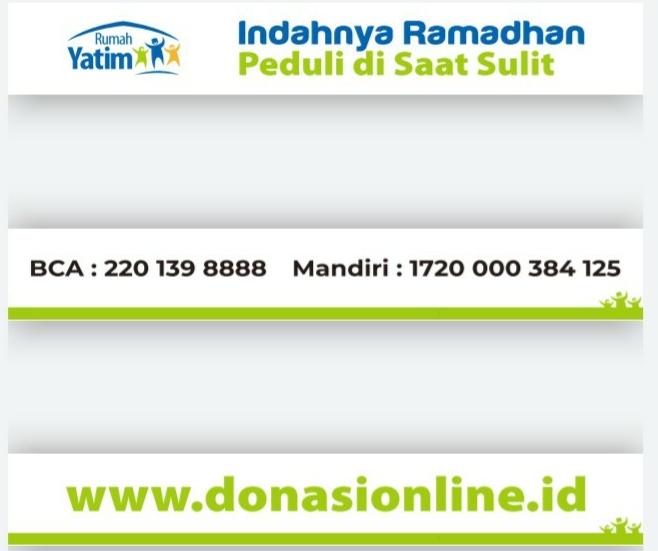 Ucapan iklan Ramadhan 1441H Rumah Yatim