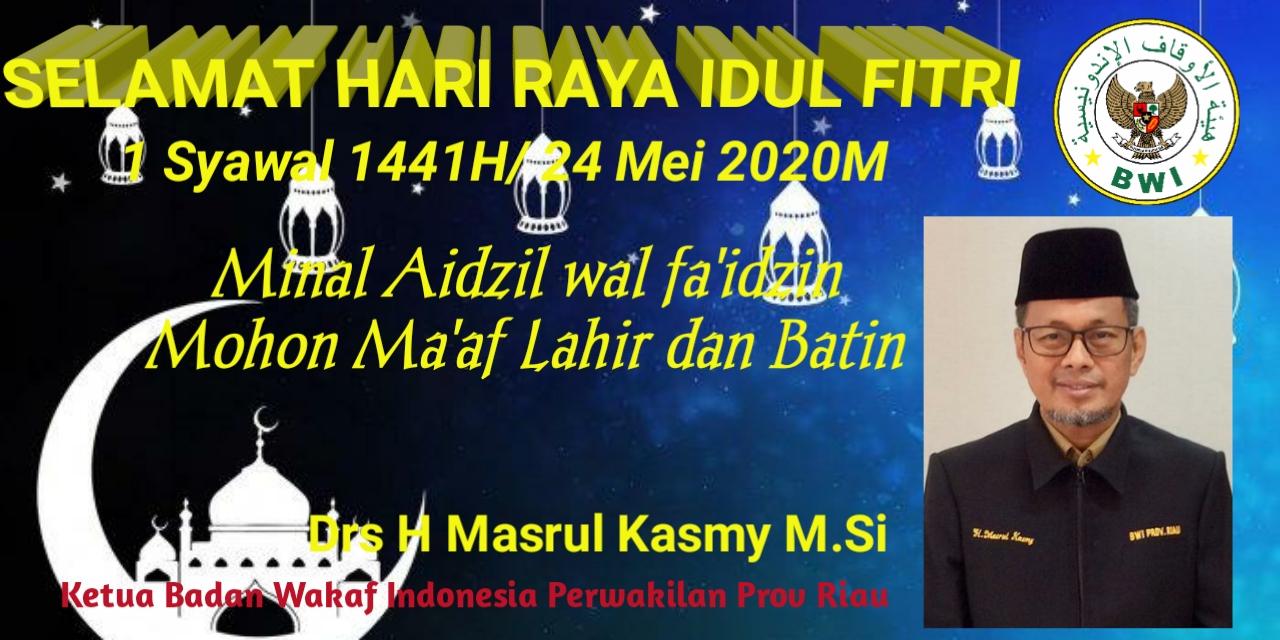 Ucapan Ketua BWI Prov Riau