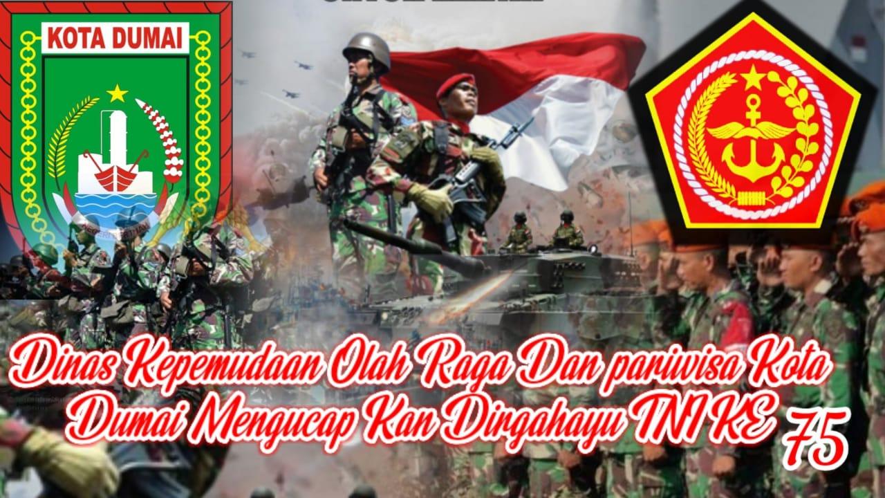 Ucapan Hut ke 75 TNI